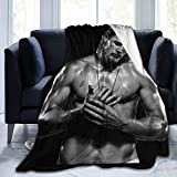 FUSTBIL Charlie Hunnam Blanket Super Soft Fuzzy Fur Elegant Throw Blanket for Bed Couch Living Bed Room for Kids Adults