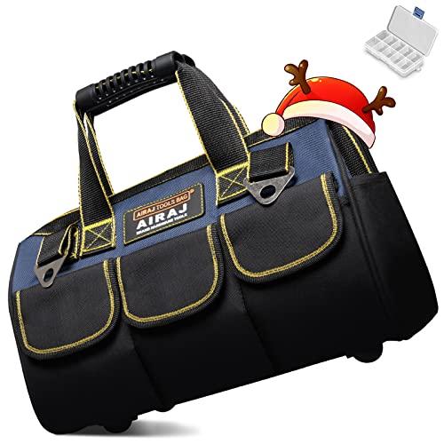 AIRAJ15 Borsa per attrezzi multifunzione, resistente, impermeabile, con tracolla regolabile, adatta per uso quotidiano, carpenteria, elettricisti e attrezzi da trasporto