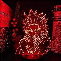 3Dナイトライトアニメイリュージョンマイヒーローアカデミアランプ霧島永美郎北大なヒーローアカデミアランパラデノッチドミトイオナビダド誕生日プレゼントランプLEDライト子供のための夜のライト7カラータッチ (色 : 16 Colors+Remote)