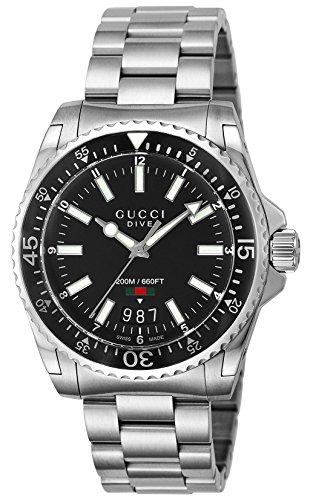 R.GUCCI DIVE LG NEGRO orologi uomo YA136301