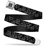 Buckle-Down Men's Seatbelt Belt Skulls XL, Multicolor, 1.5' Wide-32-52 Inches in Length