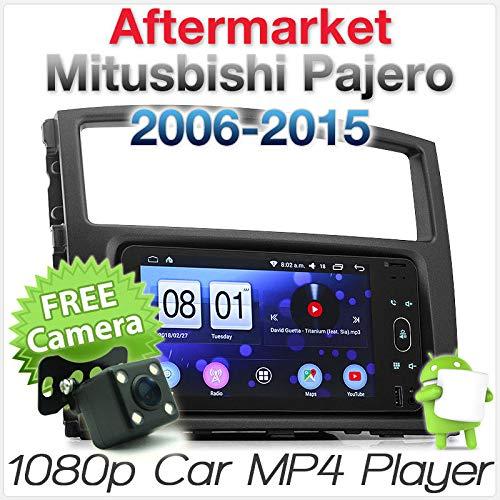 TUNEZ® Lecteur MP3 de voiture Android compatible avec Misubishi Pajero 2006–2015 NS NT NW NX Châssis 4ème génération Double DIN USB Radio stéréo GPS MirrorLink (sans module Rockford Fosgate)