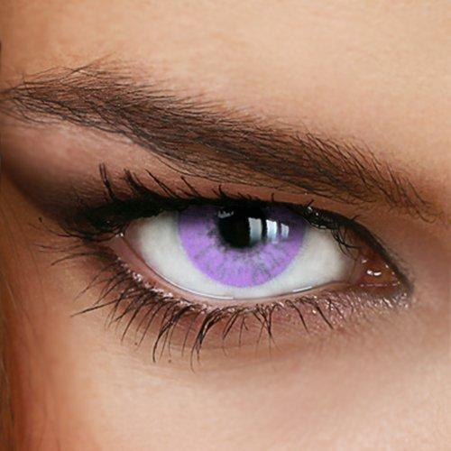 Farbige Jahres-Kontaktlinsen Naturally SWEET VIOLET - OHNE Stärke - von LUXDELUX® - (+/- 0.00 DPT)