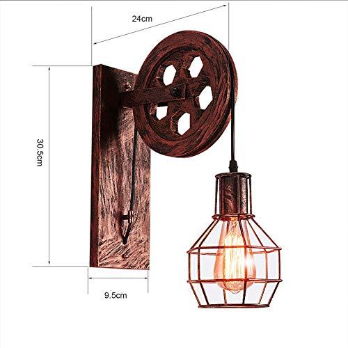 Hochwertige Retro Loft Bar Wandbeleuchtung Wohnzimmerlampe Schlafzimmerlampe Esszimmerlampe Wandlampe Elegant Nachttischlampe Industriedesign Wandleuchte L30.5Cm E27×1 Metall,Braun