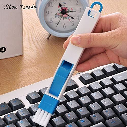 Modenny 2 In 1 Bildschirm Tastatur Schublade Kleiderschrank Ecke Lücke Staub Entfernung Reinigungsbürste Fenster Slot Pinsel Mit Kehrschaufel Multifunktionswerkzeug