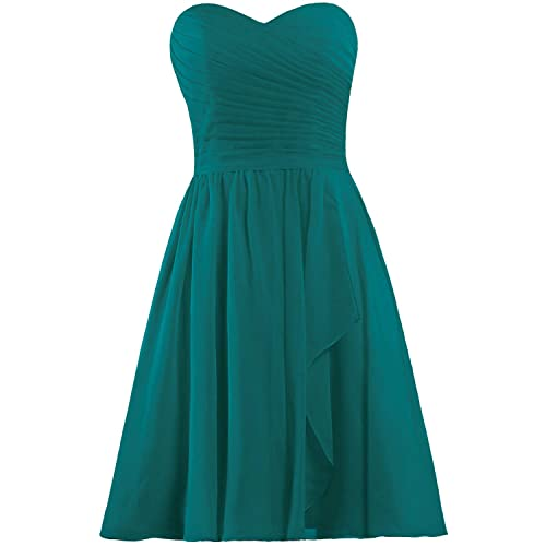 teal bridesmaid dresses short