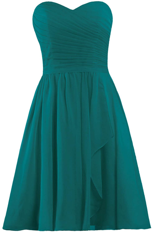 Available at Amazon: ANTS Women's Sweetheart Short Bridesmaid Dresses Chiffon Wedding Party Dress