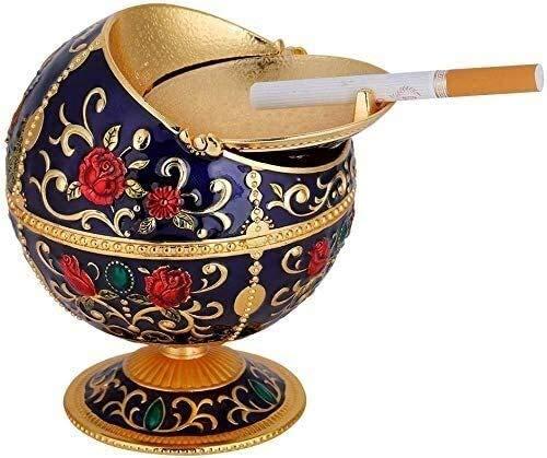 TEAYASON Cenicero portátil de metal a presión a prueba de viento, al aire libre para regalos de interior para hombres y mujeres de moda, #03
