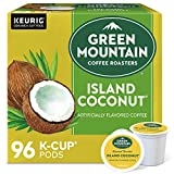 Green Mountain Coffee Roasters Island Coconut, Single-Serve Keurig K-Cup Pods, Flavored Light Roast Coffee, 24 Count (Pack of 4)