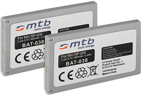 2X Baterías NP-200 para Minolta Dimage X, XI, Xg, XT, XT Biz, Dimage Z