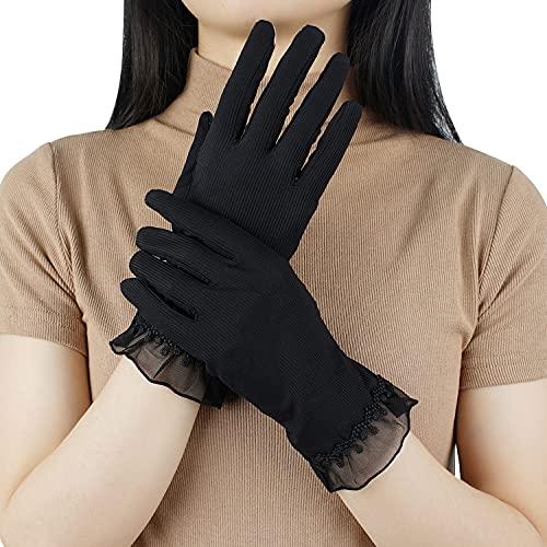 【GSG】日焼け手袋 車 グローブ uvカット レディース 日焼け止め手袋 ショート 薄い おしゃれ 日焼け防止 滑り止め スマホ 女性 紫外線 運転 夏 清涼 プレゼント 手触りが良い