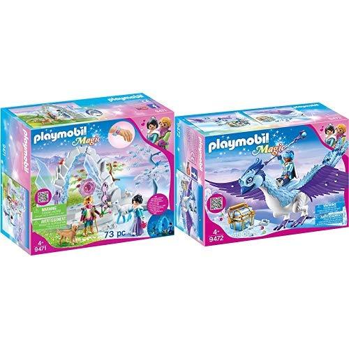 PLAYMOBIL 9471 Spielzeug-Kristalltor zur Winterwelt, Unisex-Kinder &  9472 Spielzeug - Prachtvoller Phönix Unisex-Kinder