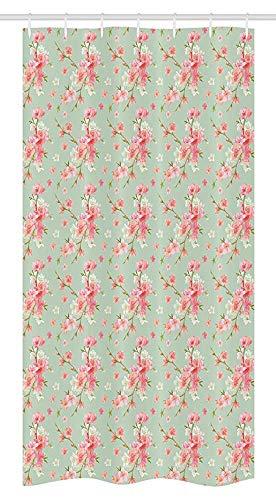 36x72 inch, douchegordijn, lente bloesem bloemen met Franse tuin bloemen slinger artistiek beeld, stof badkamer set met 12 haken