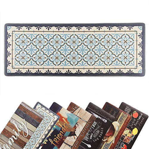 Kitchen Mat 18 x 47 Inch, Anti-Fatigue Chef Mat Waterproof Kitchen Rugs Foam Cushioned Floor Mat Classic Design