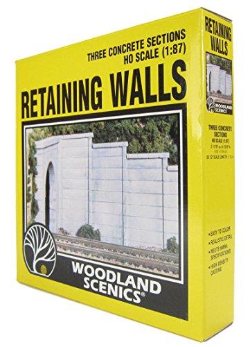 WOODLAND SCENICS C1258 Concrete Wing Wall (3) HO WOOU1558