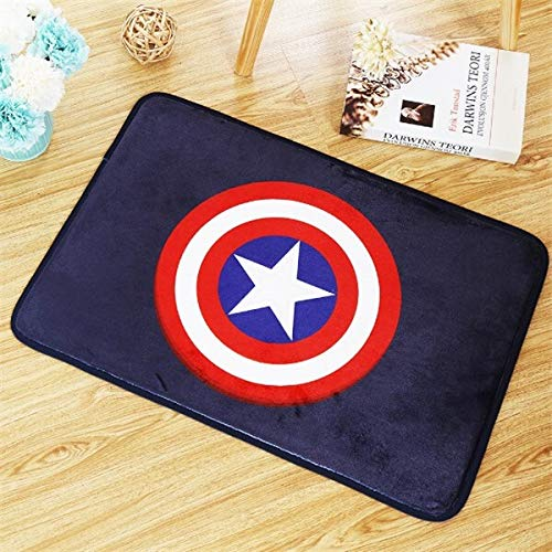 Yanqhua Fußabtreter 40 * 60cm Captain America Teppich Flur Fußmatte Anti - Rutsch Badezimmer Teppich absorbiert Wasser Küche Matte/Teppich (Color : 4)