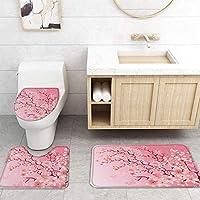 ZGDPBYF 浴室の風景のためのアップホームバスマットピンクの桜の花プリントバスマットシャワーフロア用カーペットバスタブマット