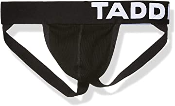 Taddlee Sexy Mens Black Low-Rise Jock Strap Stretch Briefs Thong Underwear Pouch