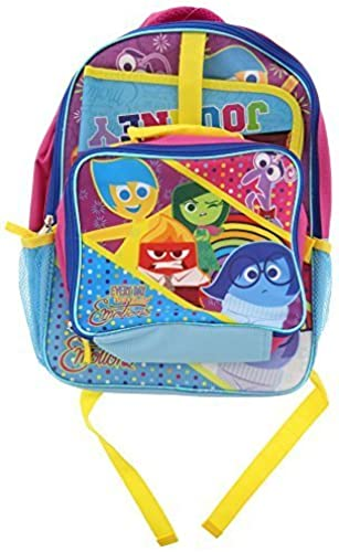 popular Disney Inside Out 15  School Backpack, Detachable Lunch Bag Bag Bag and Folder by Disney  suministro de productos de calidad