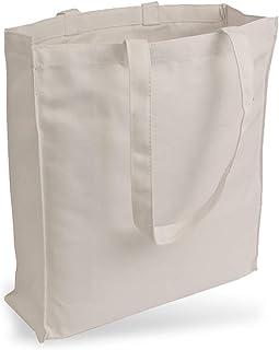 Cottonbagjoe Cottonbagjoe Jutebeutel Canvastasche aus Jeansähnlichem Stoff sehr robust und widerstandsfähig unbedruckt mit Seiten-&Bodenfalte und Zwei Langen Henkeln 38x42x10cm Natur