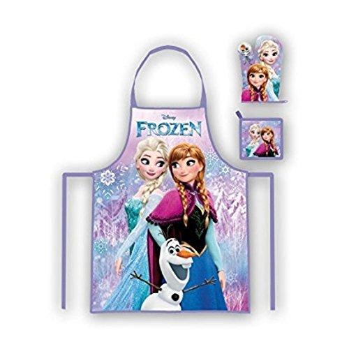 Unbekannt Beta Service Set de Cuisine EL51295 la Reine des Neiges Frozen III 3 pièces, Plastique, Multicolore, 15 x 25 x 12 cm