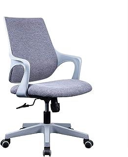 Ergonomiczne krzesło biurowe z zakrzywionym oparcia, wsparcie lędźwiowe, siedzenie tkaninowe, sporządza obrotowe krzesło k...