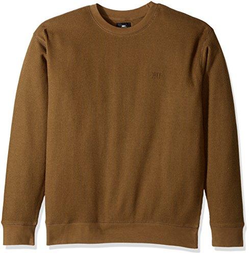Obey Men's Covert Crew Neck Fleece Sweatshirt, Dull Army, 2XL