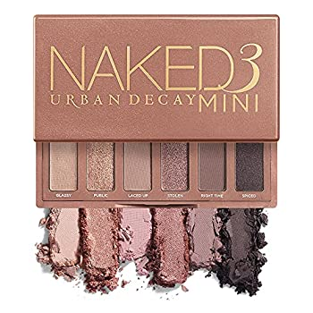 Urban Decay Naked3 Mini Eyeshadow Palette - Pigmented Eye Makeup Palette For On the Go - Ultra Blendable - Up to 12 Hour Wear