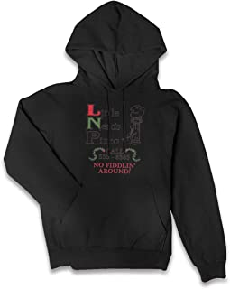 Little Nero's Pizza Women Hoodies-Tops Long Sleeve Pocket Drawstring Sweatshirt with Pocket