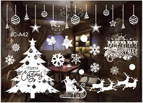 Sunshine smile fensterbild Weihnachten,Fensteraufkleber,PVC Fensterbilder,Weihnachten Fensterdeko,selbstklebend Fensterfolie,Weihnachtsdekoration,deko Weihnachten (A42)