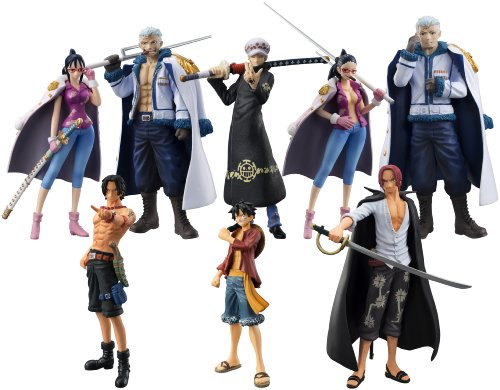 Bandai Tamashii Nations One-Piece Law's Ambition Chozokei Tamashii Action Figure (Set of 8)