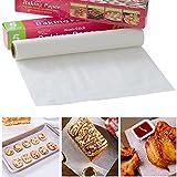5/10/20 m di carta pergamena da forno, forno a microonde, tappetino da cottura antiaderente fogli per cuocere grigliate, friggitrice ad aria per pane, torte, biscotti, barbecue, feste (10 metri)