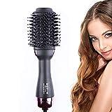 Warmluftbürste Haartrockner, Hairstyler Heißluftbürste Hair Dry Volumizer Multifunktionale Heißluftbürste Haarglätter Negativer Lonic Heißluftkamm Föhnbürste Stylingbürsten Haarglätter Bürste