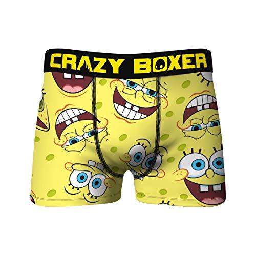 Crazy Boxers Spongebob Schwammkopf All Over Boxer Briefs - Gelb - X-Large