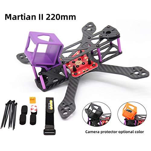XuBa TCMMRC FPV Frame Kit Martian II Distancia Entre Ejes 220 mm 4 mm Brazo Fibra de Carbono para Racing Drone Quadcopter
