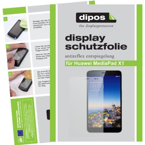 dipos I 2X Schutzfolie matt kompatibel mit Huawei MediaPad X1 7.0 Folie Bildschirmschutzfolie