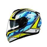 MJW High-grade motorcycle helmet full-covered double-lens running helmet Motocross helmet,Adult Motocross Helmet,luckystar,L