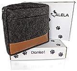 ALELA Premium Futterbeutel | Futtertasche für Hunde-Training | Leckerlitasche in Filz-Optik | Snack-Bauchtasche