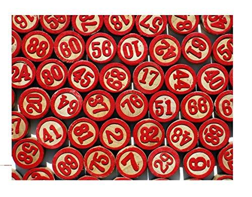 Generico Accessori per Tombola Tradizionale Napoletana 90 Numeri in Legno per Cartelle Numerate Gioco Natale Giochi Societa' Tanti Giochi nel Nostro Negozio Amazon BLUSUPERSHOP Leo