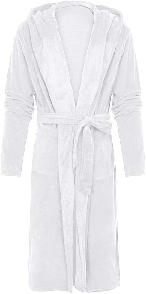 CUJUX Men Winter Pajamas Bathrobe Home Clothes Sleepwear Warm Plush Home Clothes Long Sleeve Mens Robes (Size : XX-Large)
