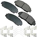 Akebono - ACT1089A Ultra-Premium Ceramic Front Disc Brake Pads , GREY