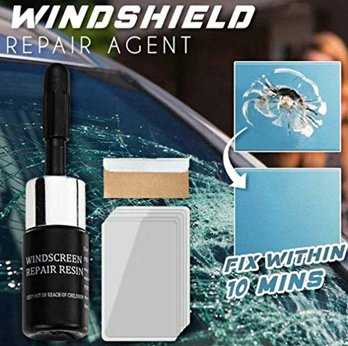 Keeplus Crackflix Windshield Repair Agent - Nano-Reparaturflüssigkeitsset für Autoglas für Autoglas-Risskrater und Kratzbefestigung (2PC)