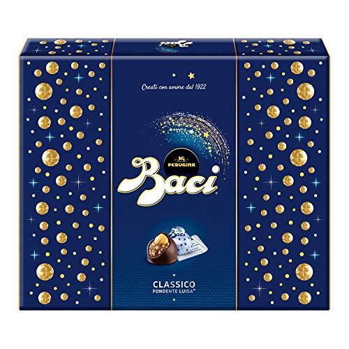 Baci Perugina Classico Cioccolatini Fondenti al Gianduia e Nocciola Intera Scatola Regalo 200 g