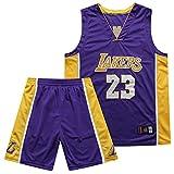 QIXUN Lakers, Traje de Baloncesto, Transpirable, Secado rápido, 23Rd, 24thh, James, Traje de Kobe (Púrpura)