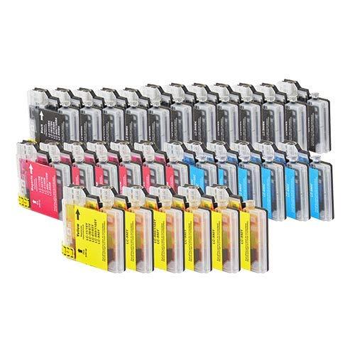 30 Bubprint Druckerpatronen kompatibel für Brother LC-1100 LC-980 für DCP-145C DCP-195C DCP-165C MFC-250C MFC-490CW MFC-5490CN MFC-5890CN MFC-6490CW