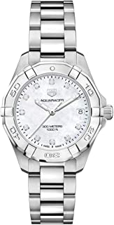 Aquaracer White Mother of Pearl Diamond Dial Ladies Watch WBD1314.BA0740