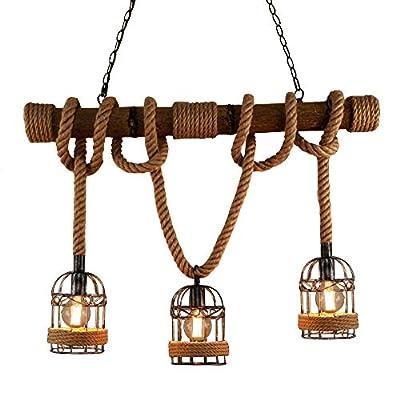 BAYCHEER Industrial 3 Lights Pendant Light Ceiling Lighting Hanging Lamp Chandelier
