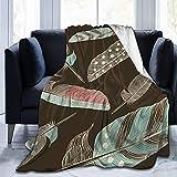 Jimbseo Manta de franela de forro polar azul y fondo de curva de Graphicriver Super suave y acogedora manta de cama mantas de 40 x 50 pulgadas Model589#