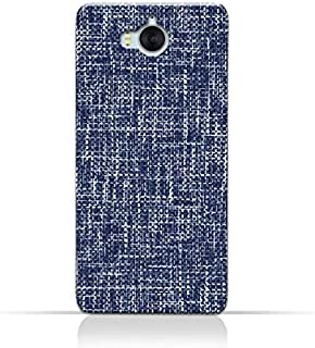 AMC Design Huawei Y6 2017 TPU Silicone Case with Brushed Chambray Pattern
