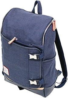 十川鞄 B.C.+ISHUTAL ビーシーイシュタル ルンゴ スクエア デイパック リュックサック コットン ネイビー ILG-9507 NV